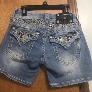 Miss Me Jean Mid Shorts